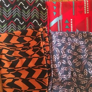 Bundle of 4 Cassie LuLaRoe pencil skirts